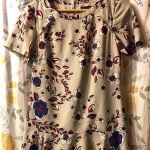 Banana Republic silky drop waist dress